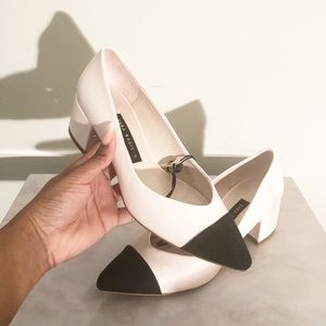 Colorblock Chunky Heel Shoes from Zara